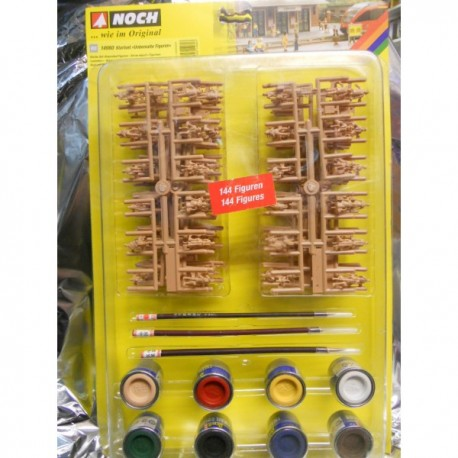 ** Noch 14980 HO Scale Unpainted Figure Starter Set (144) with Paints &  Brushes - MDR Direct Online