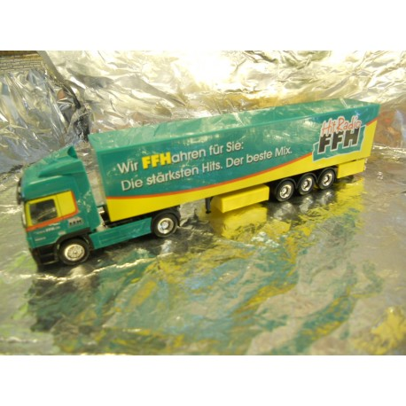 "** Herpa 266086 Mercedes Benz Actros LH Box Semitrailer ""FFH Broadcasting Station"""