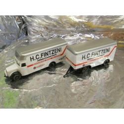 ** Herpa 145978 Mercedes Benz L 311 Moving Van & Trailer Fintzen GmbH