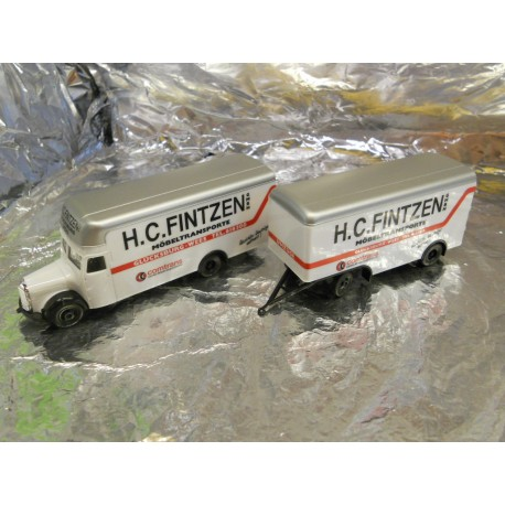 ** Herpa 145978 Mercedes Benz L 311 Moving Van & Trailer Fintzen GmbH