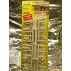 ** Noch 14985 Unpainted Figure Starter Set ( 72 )