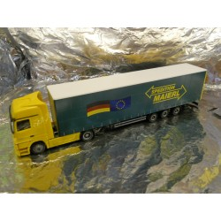 "** Herpa 285872 Mercedes Benz Actros LH Curtain Canvas Semitrailer ""Maierl"""