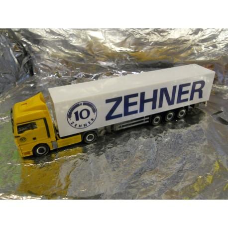 "** Herpa 901840  MAN TGX XLX Box Semitrailer ""Zehner"""