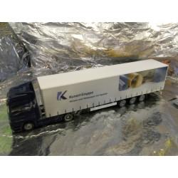"** Herpa 273480 Mercedes Benz Actros LH Jumbo Curtain Canvas Semitrailer ""Kunert Gruppe"""