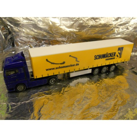 "** Herpa 280709 MAN TGA XLX Curtain Canvas Semitrailer ""Schomaecker"""