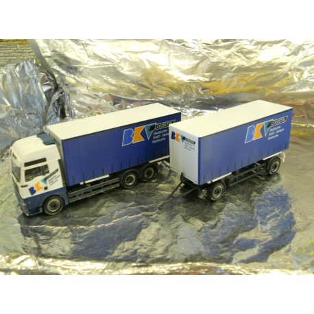 ** Herpa 278621 MAN TGA XXL Interchangeable Curtain Canvas Trailer BKV