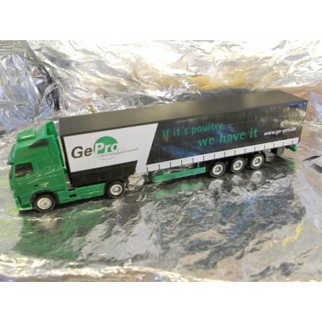 "** Herpa 902489  Volvo FH Curtain Canvas Semitrailer ""GePro"""