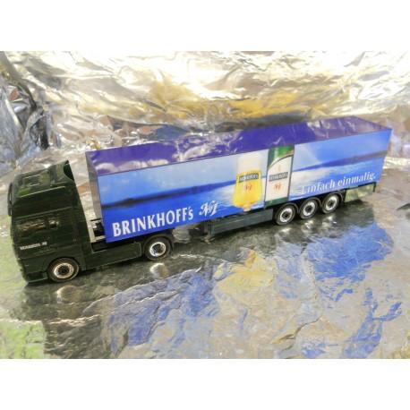 ** Herpa 149174 MAN TGA XXL Box Semitrailer Brinkhoff's No 1