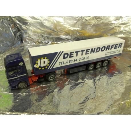 "** Herpa 148252 MAN TGA XXL Canvascover Semitrailer ""Dettendorfer"""