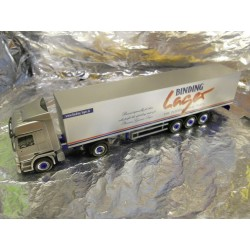 "** Herpa 148894 Mercedes Benz Actros L Box Semitrailer ""Binding Lager"""