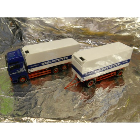"** Herpa 147248 MAN TGA XXL Interchangeable Refrigerated Box Trailer ""Wagenstetter"""