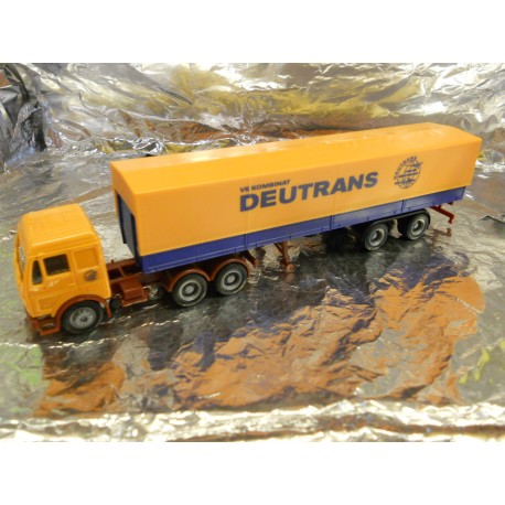 "** Herpa 150279  Mercedes Benz Canvas Semitrailer,  "" Deutrans ""."