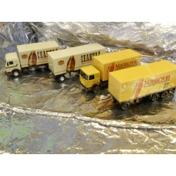 ** Herpa 153836 Eckes Model Set Of Two Lorrys Chantré/Mariacron