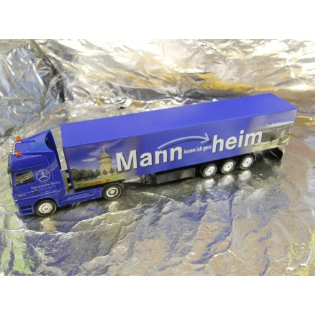 ** Herpa 275613 Mercedes Benz Actros Curtain Canvas Semitrailer May Market Mannheim 2005