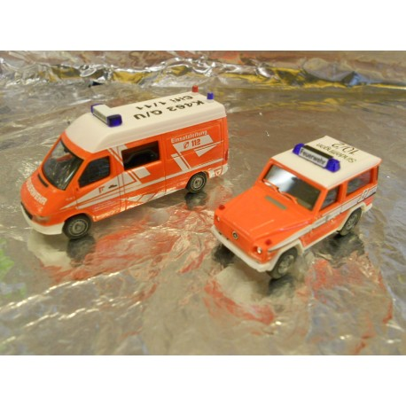 "** Herpa 273930 Two Vehicle Set ""Sindelfingen Firefighting Department"""