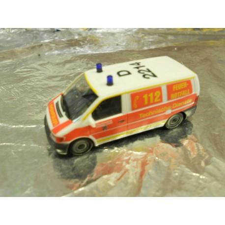 """** Herpa 278812  Mercedes-Benz Vito Cargo Van """"Duesseldorf Fire Department""""."""