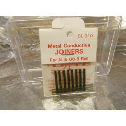 ** Peco SL-310 24 x Metal Conductive Joiners for N & OO-9 Rail Code 80 & 55