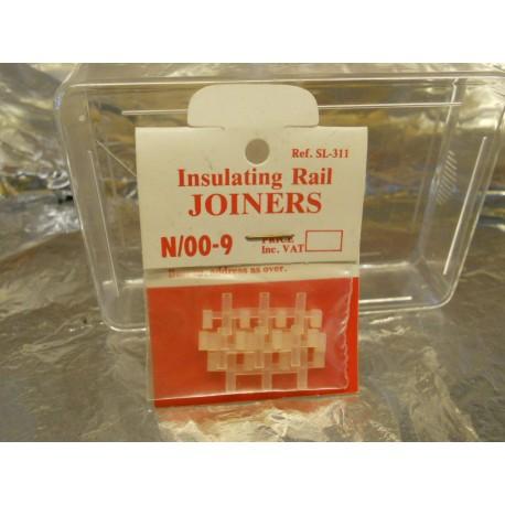 ** Peco SL-311 12 x Insulating Rail Joiners for N & OO-9 Rail Code 80 & 55