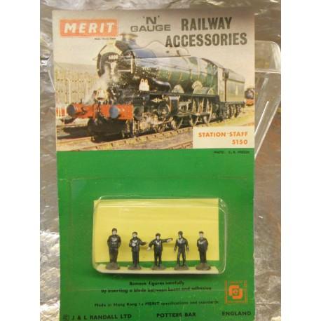 ** Merit 5150 Station Staff (5) N Scale