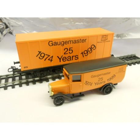 ** Marklin M00012 Gaugemaster 25 Years 1974 -1999 Wagon+Lorry Set