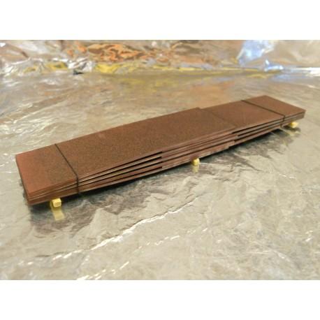 ** Heico 08702 Load of Metal Sheets on Wooden Blocks 130mm TT / HOe / HO / 00
