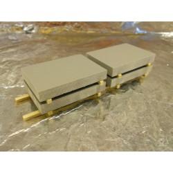 ** Heico 08730 4 x Concrete Slabs on Wooden Pallet 100mm TT / HOe / HO / 00