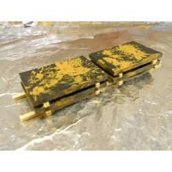 ** Heico 08724 4 x Rusted Steel Slabs on Wooden Pallet 100mm TT / HOe / HO / 00