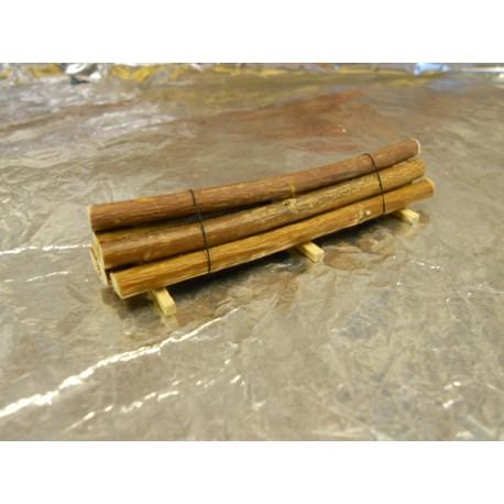 ** Heico TT1242 Load of Logs on Wooden Blocks 75mm TT / HOe / HO / 00
