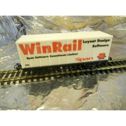 ** Marklin M0001 2-Axel Container Wagon (Winrail Layout Design Software) 1:87 Scale