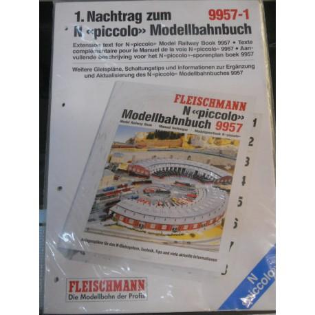 ** Fleischmann 9957-1 Extension Text for N Piccolo Model Railway Book 9957