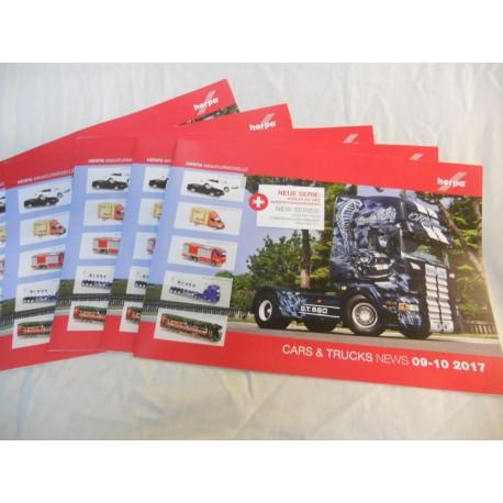 ** Herpa Cars & Trucks News 09-10 2017 Brochure various Scales