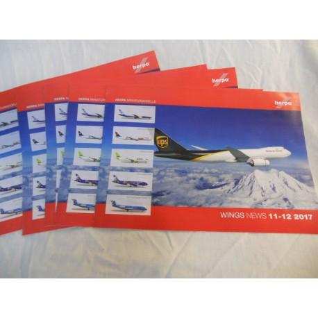 ** Herpa Wings News 11-12 2017 Brochure various Scales