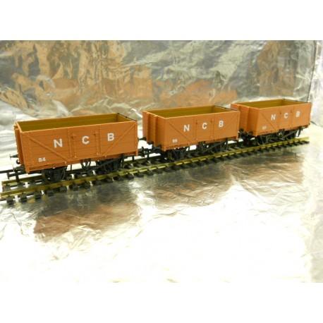 ** Golden Valley Hobbies GV6012  3 - Pack NCB 7 Plank Open Coal Wagon
