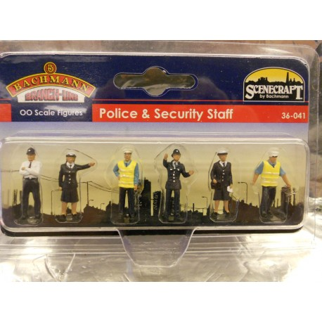 ** Bachmann 36-041 Police and Security Staff (6)