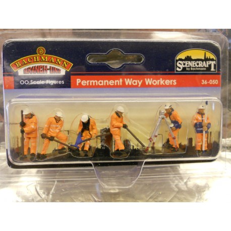 ** Bachmann 36-050 Scenecraft Permanent Way Workers (6) 00 Scale