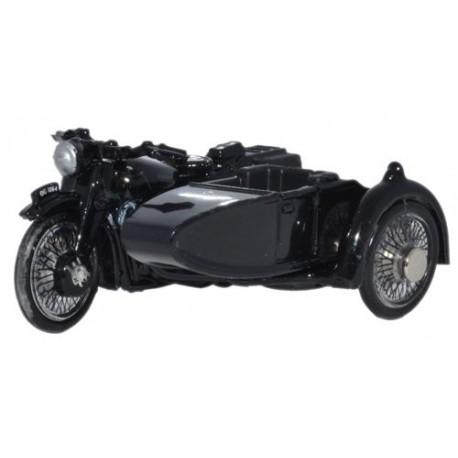 ** Oxford Diecast 76BSA006 BSA Motorcycle/Sidecar Police