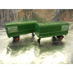 ** Oxford Diecast 76MH008T Pack of 2 Trailers Petter Oil Engines 1:76 00 Scale