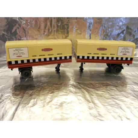 ** Oxford Diecast 76RAB001T Pack of 2 Trailers British Railways 1:76 00 Scale