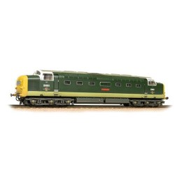 ** Bachmann 32-533 Class 55 D9001 'St. Paddy' BR Two-Tone Green Full Yellow Ends Weathered