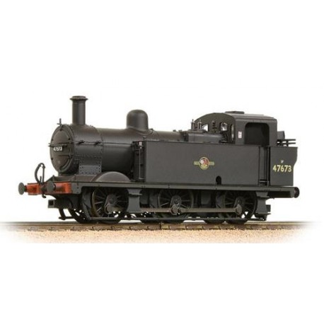 ** Bachmann 32-235 Fowler Class 3F 0-6-0 (Jinty) 47673 BR Black Late Crest Weathered