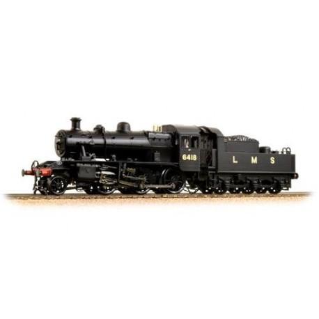 ** Bachmann 32-830A Ivatt Class 2MT 2-6-0 6418 LMS Plain Black