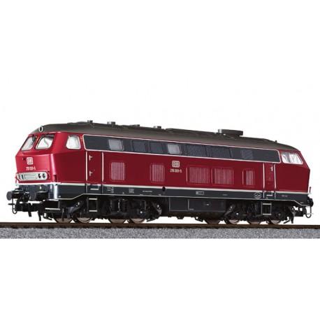 ** Liliput L132033 Diesel Locomotive BR 219 Red DB Ep.IV AC Digital