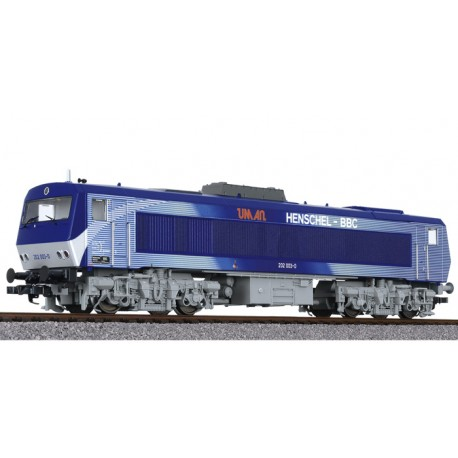 ** Liliput L132059 Diesel Locomotive DE2500 Silver / Blue AC, Digital