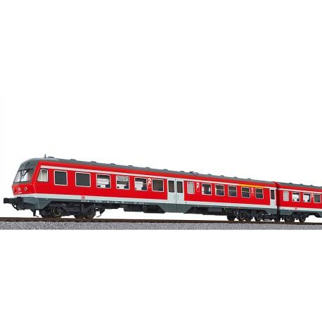 ** Liliput L133159 3 Car DMU BR 614 DB Red Ep.V AC Digital