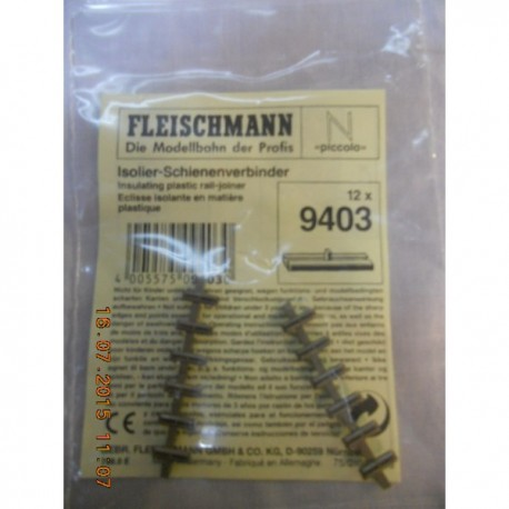** Fleischmann 9403 Pack of Insulated Railjoiners / Fishplates