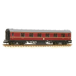** Graham Farish 374-845C x 2 Stanier First Corridor LMS Crimson Lake