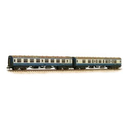 ** Graham Farish 374-990 x 2 Mk1 Coach Pack 'Works Test Train' BR Blue & Grey Weathered