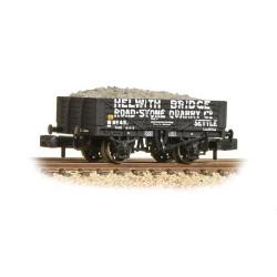 ** Graham Farish 377-032 x 2 5 Plank Wagon 'Helwith Bridge Road Stone Quarry' with Load