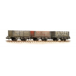 ** Graham Farish 377-097 x 2 Coal Trader' Pack 7 Plank Private Owner Wagons Weathered