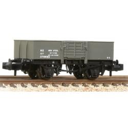 ** Graham Farish 377-954A x 2 13 Ton H/Sided Steel Wagon (Smooth Sides) Wooden Door LNER Grey
